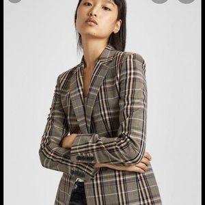 Size 0 must see - theory wool plaid blazer!!!!